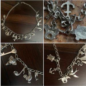 Jewelry - Rare 1960's Silver Charm Necklace 21 charms 18.5""